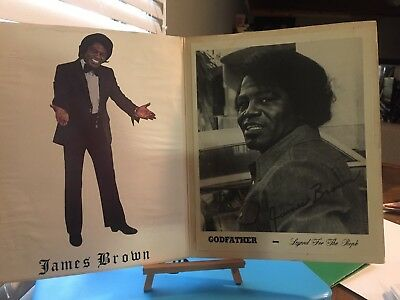 Autographed pictures by James Brown-Godfather Legend For The People program