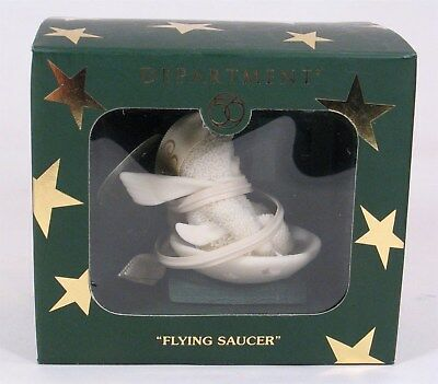 Dept 56 SNOWBABIES Flying Saucer miniature ornament, new in the box. 56.69532