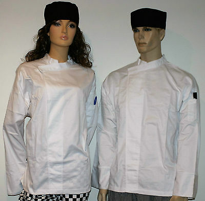 5 x white chefs jackets pullover With pen pocket unisex male or female