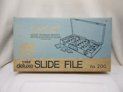 Logan Deluxe Slide File No. 200 for 35mm Slides New in Sealed Box NOS Coins