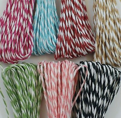 Red White STRIPED String LIKE BAKERS TWINE raffia Christmas wrapping PRESENT