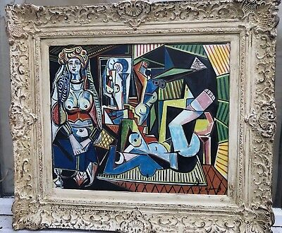 1960s FRENCH/ SPANISH ABSTRACT / SURREALIST / CUBIST/  OIL PAINTING ON CANVAS