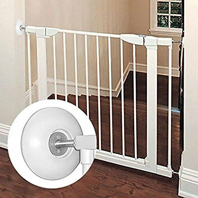 2 Pack Indoor Baby Gate Best Dog Pet Child Walk Thru Safety Guard Pad Fence Wide