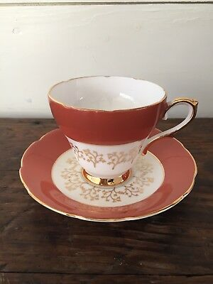 Royal Sutherland Fine Bone China Tea Cup and Saucer Set - Gold Staffordshire