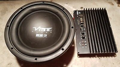 "vibe pulse 10"" 600w subwoofer and amplifier from active box - no box included"