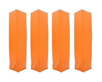 Orange Weighted Foam Pylon Field Marker Cone 4-Pack for Sport Drill
