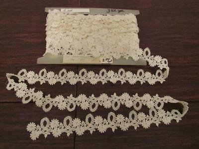 11 yd. vtg. Lace Lot Trim Edging Needlepoint Embroidery Crochet Doilies Crafts