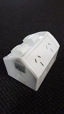 Weatherproof Double Power Point Outlet GPO Water Proof External
