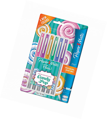 Paper Mate Flair Felt Tip Pens, Ultra Fine Point, Limited Edition Candy Pop Pack