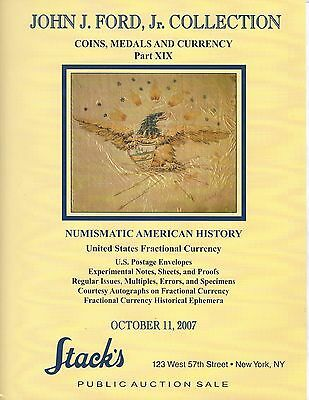 John J Ford Stack's Auction Catalog Oct 11 2007 Part Xix Coins,medals & Currency