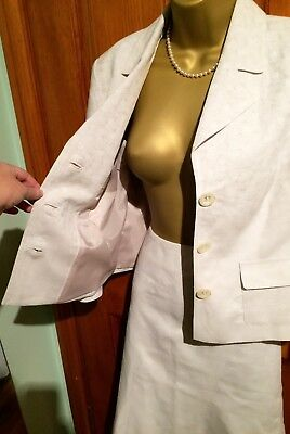 Next Ladies Cream Lined Suit (Skirt and Jacket) Size 12