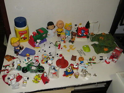 * Huge Lot Of Peanuts Halloween & Christmas Figurines, Ornaments, Thermos  *