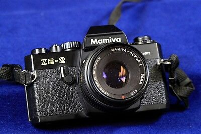 Mamiya ZE-2 35mm film camera with Sekor E 50mm 1:2 Shutter excellent