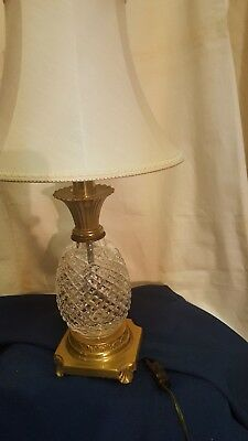 stunning  sparkling waterford  pineapple  shape   Hospitality Crystal lamp
