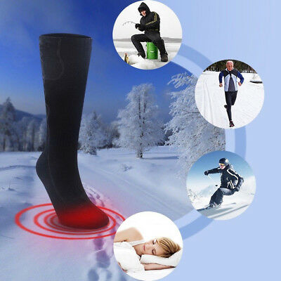 3V Battery Heated Adult Socks Winter Feet Foot Warmer Safe Electric Heater Witty