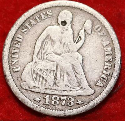 1873-S San Francisco Mint Seated Liberty Dime With Arrows Free Shipping