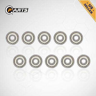 100pcs 608zz Deep Groove Ball Bearing Carbon Steel For Skateboard Roller Blade