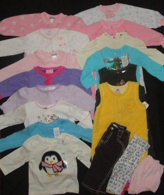 Girls Christmas Clothing Winter Lot 6 9 12 months NWT EUC Sleepers Carters TCP