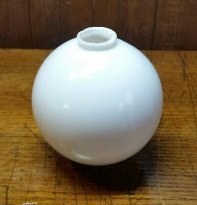Large Plain Smooth White Milk Glass Lightning Rod Ball (L4)