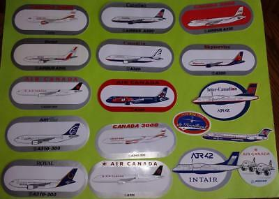 15x Canadian Airlines Airbus / ATR Stickers - Wardair Air Canada Royal Canadian