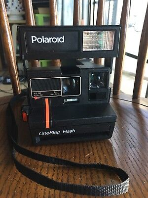 Polaroid 600 OneStep Flash Instant Camera Red Stripe - Tested and Works
