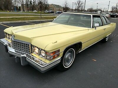 1974 Cadillac DeVille  1974 Cadillac Coupe Deville 64k miles AACA Museum Fleetwood Leather 472 V8 Sharp