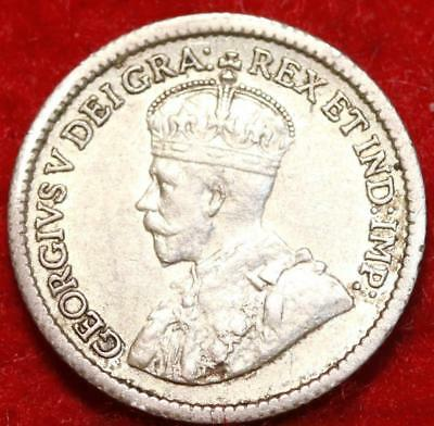 1917 Silver Canada 5 Cents Silver Foreign Coin Free S/H