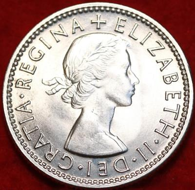 Uncirculated 1953 Australia Shilling Silver Foreign Coin Free S/H