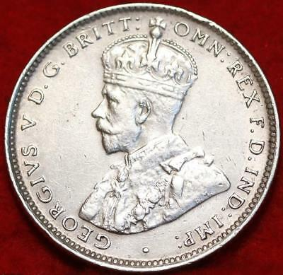 Uncirculated 1935 Australia Shilling Silver Foreign Coin Free S/H