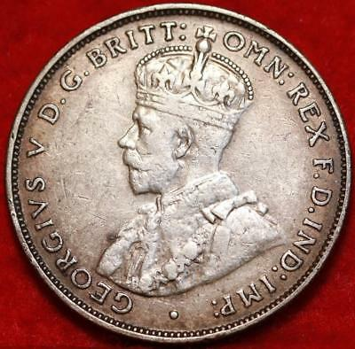 1934 Australia Florin Silver Foreign Coin Free S/H