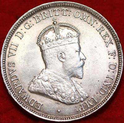 Uncirculated 1910 Australia Florin Silver Foreign Coin Free S/H