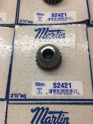 "Martin Gear S2421 Spur Gear 24 Pitch 21 Teeth 3/8"" Bore Lathe Machine Etc."
