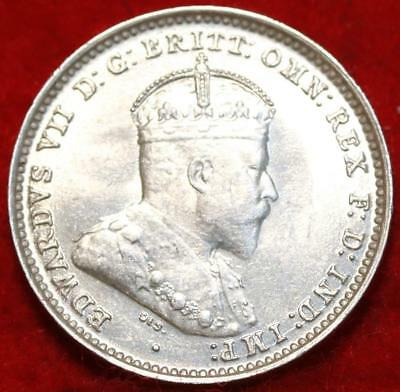 Uncirculated 1910 Australia 3 Pence Silver Foreign Coin Free S/H