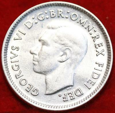 Uncirculated 1951 Australia 6 Pence Silver Foreign Coin Free S/H
