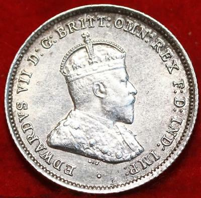 Uncirculated 1910 Australia 6 Pence Silver Foreign Coin Free S/H