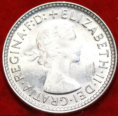 Uncirculated 1958 Australia 6 Pence Silver Foreign Coin Free S/H