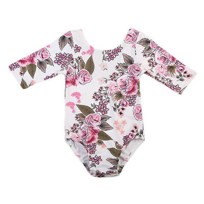 Baby Girls Toddler Cotton Tops Romper Bodysuit Floral Outfits Clothes Age 1-4Y