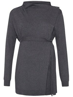 New JoJo Maman Bebe Maternity Nursing Gray 4-Way Knit Sweater S US 4/6 ;UK 8/10