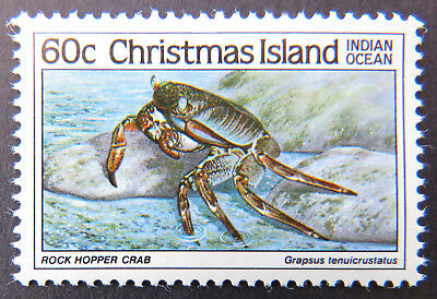 1985 Christmas Island Stamps - Crabs III - Single 60c - Rock Hopper Crab MNH