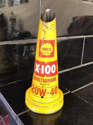 Shell Early X-100 Yellow Tin Oil Bottle Top