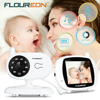 Wireless Digital 3.5'' Baby Monitor Camera 2 Way Talk Video IR Night Visione EU