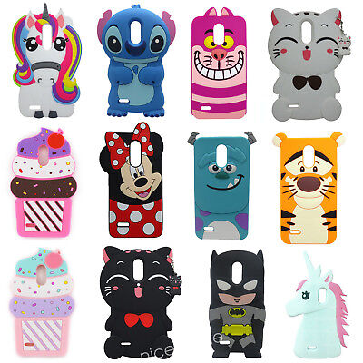 3D Cartoon Soft Silicone Rubber Case Cover For LG Stylo 2/Stylo 3 Stylus 3 LS777