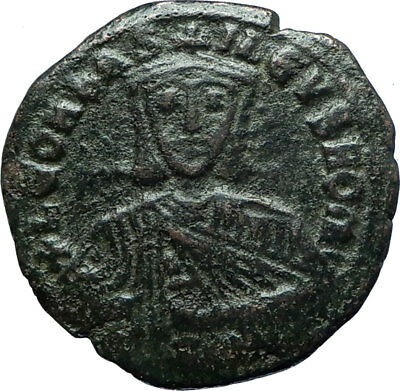 LEO VI the WISE 886AD Constantinople Follis Medieval Byzantine Coin i66083