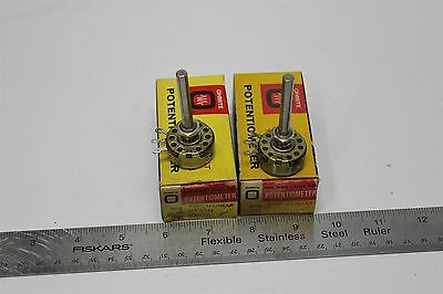 2 Unused Ohmite 2W Type Ab U-Linear 500K Long Shaft Potentiometer Cu 5041
