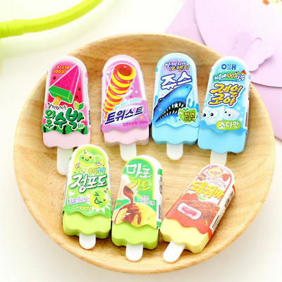 Back to School Cute Food Rubber Pencil Eraser Novelty Kids Stationery New