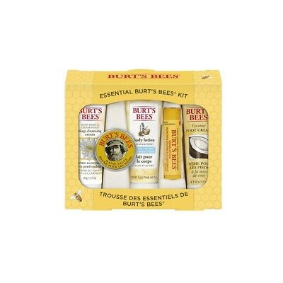 5 pcs Burt's Bees Essential Everyday Beauty Gift Set New Travel size Free Ship