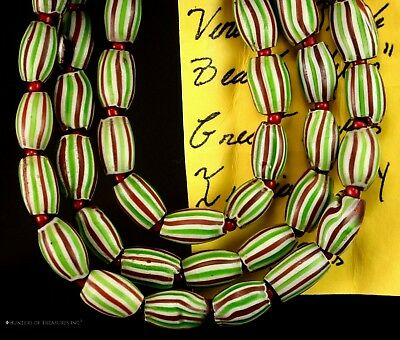 Native American Melon 4 Layers Chevron Venetian Old Trade Beads G. Lakes Indians