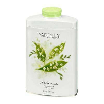 Yardley London - Lily Of the Valley - 200g Perfumed Talc - Talcum Powder Scented