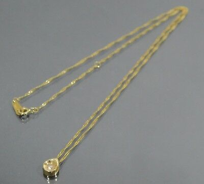 Authentic Genuine 0.05 ct Diamond 18KT Yellow Gold 750 Necklace