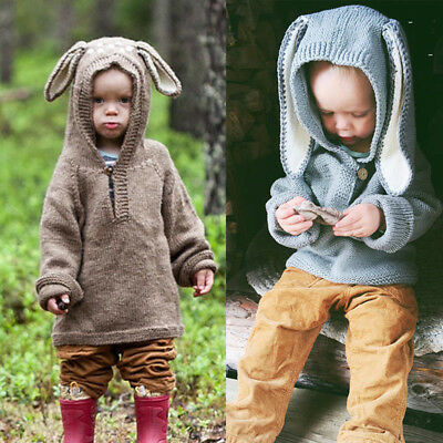Lovely Kids Baby Rabbit Knitted Sweater Winter Pullovers Crochet Tops Clothes